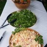 Green Leaf Salad With Fresh Coleslaw