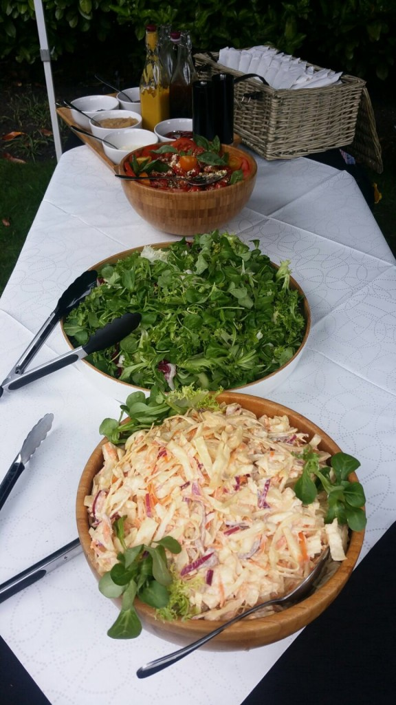 Green Leaf Salad With Fresh Coleslaw