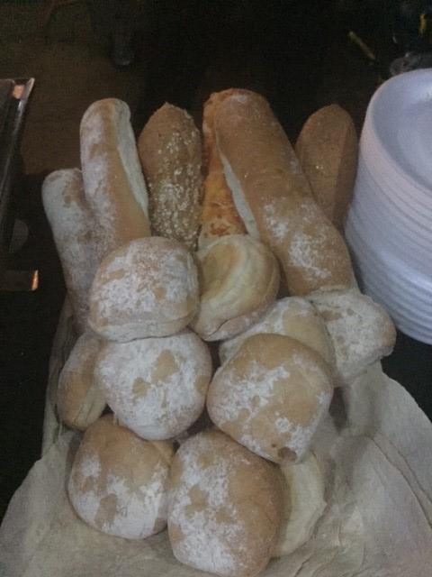 Fresh Floured Bread Rolls