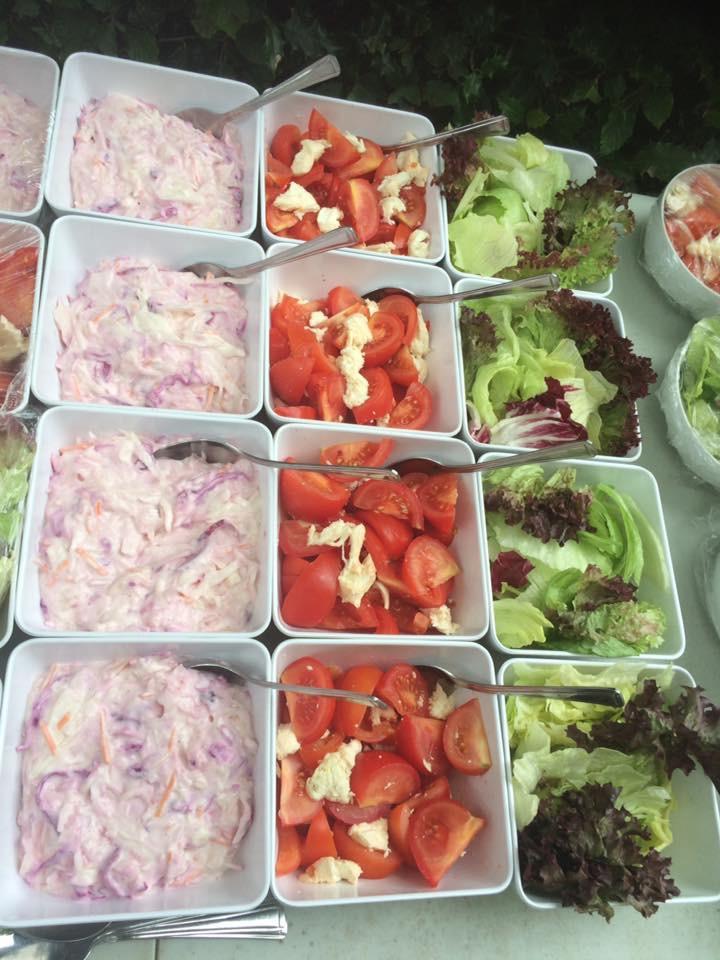 Homemade Coleslaw and Salads